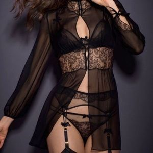 Agent Provocateur Chiffon and Lace Gown